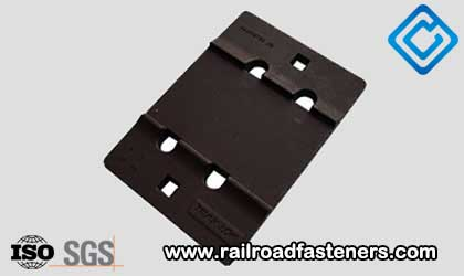 railroad tie plates for steel rails