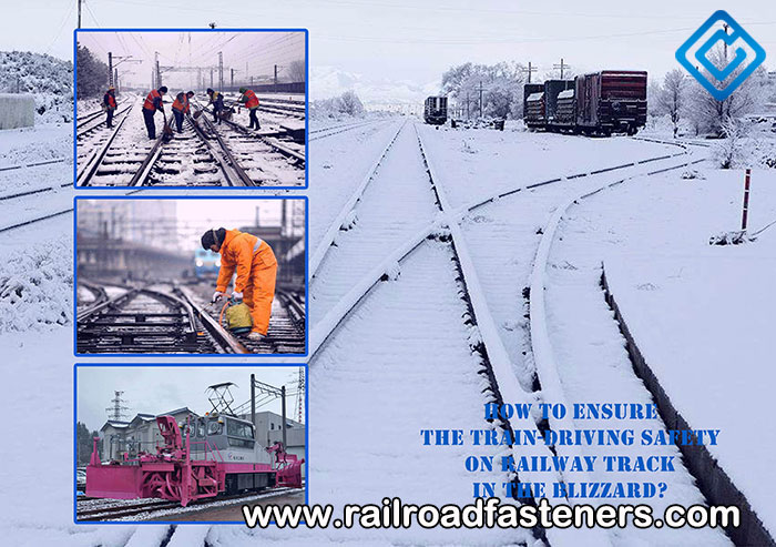 snow accumulation and freezing phenomenon on rail track