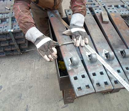 3/4'' And 1'' Hook Twin Tie Plates For Canadian Customer